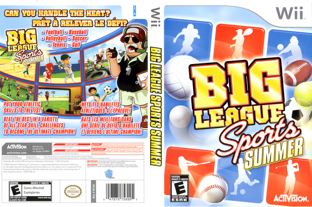 Big League Sports: Summer Wii coverfullHQ (RY5E52)