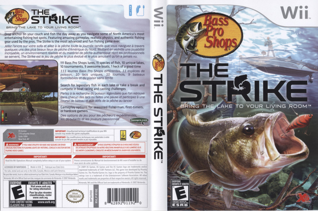 Ry8efs bass pro shops the strike for Wii u fishing game