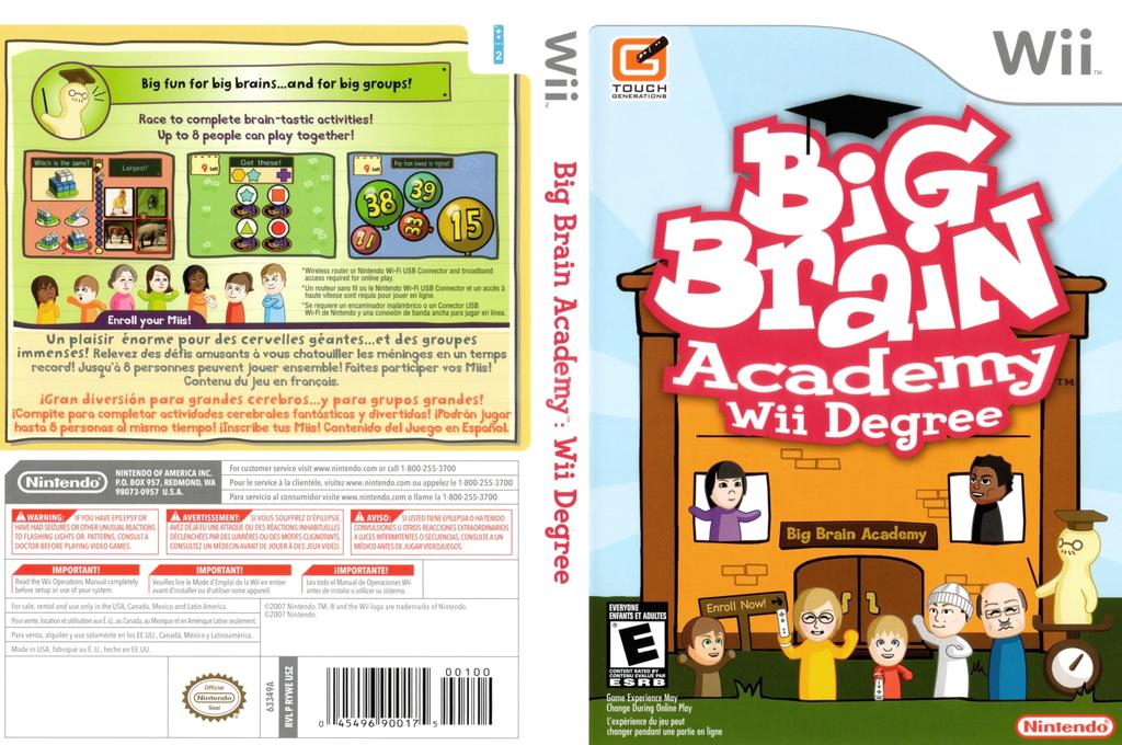 Big Brain Academy: Wii Degree Wii coverfullHQ (RYWE01)