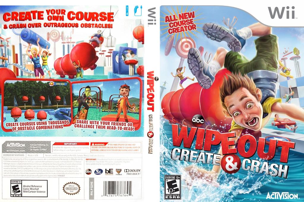 Wipeout: Create & Crash Wii coverfullHQ (S2YE52)