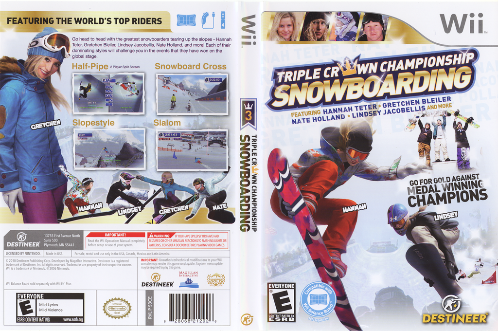 Triple Crown Championship Snowboarding Wii coverfullHQ (S3CENR)