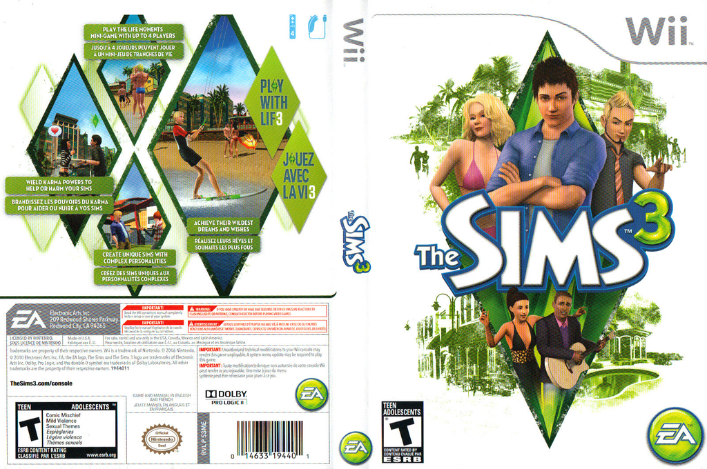 The Sims 3 Wii coverfullHQ (S3ME69)