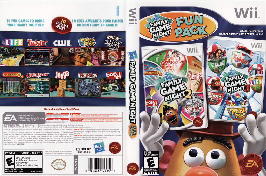 Hasbro: Family Game Night Fun Pack Wii coverfullHQ (SAHE69)