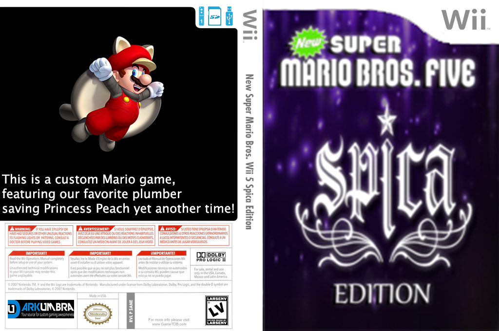 New Super Mario Bros. Wii Five Spica Edition Wii coverfullHQ (SANE01)