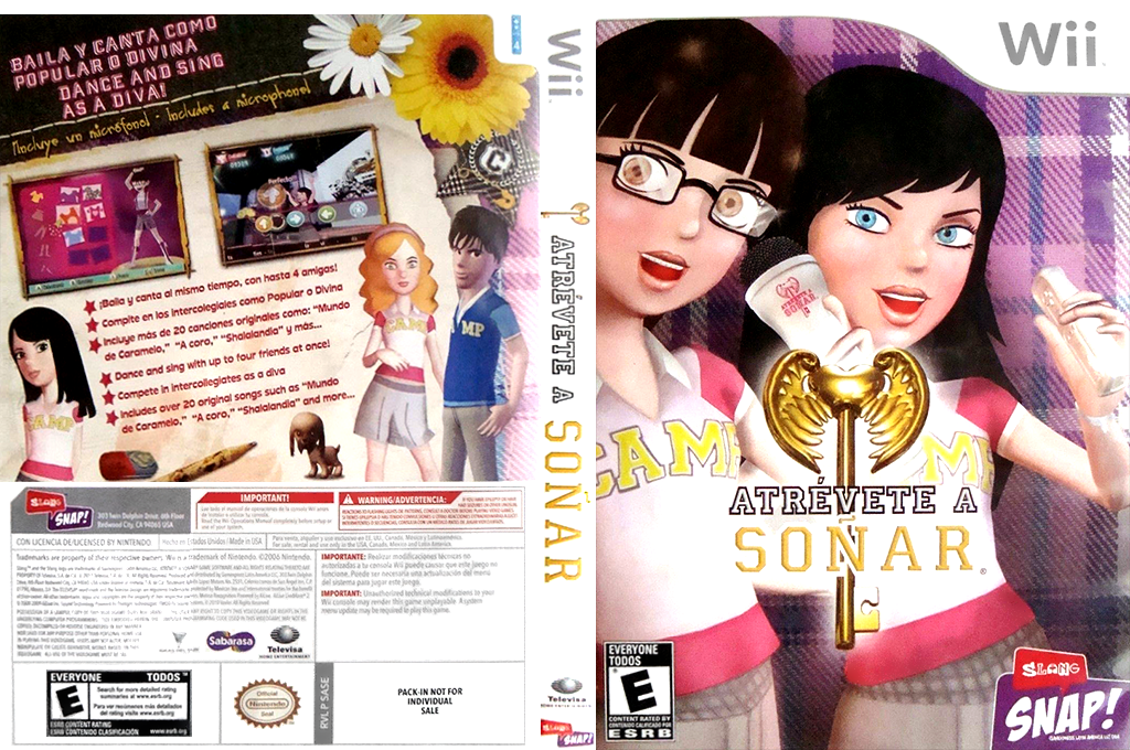 Atrévete a Soñar Wii coverfullHQ (SASEWW)