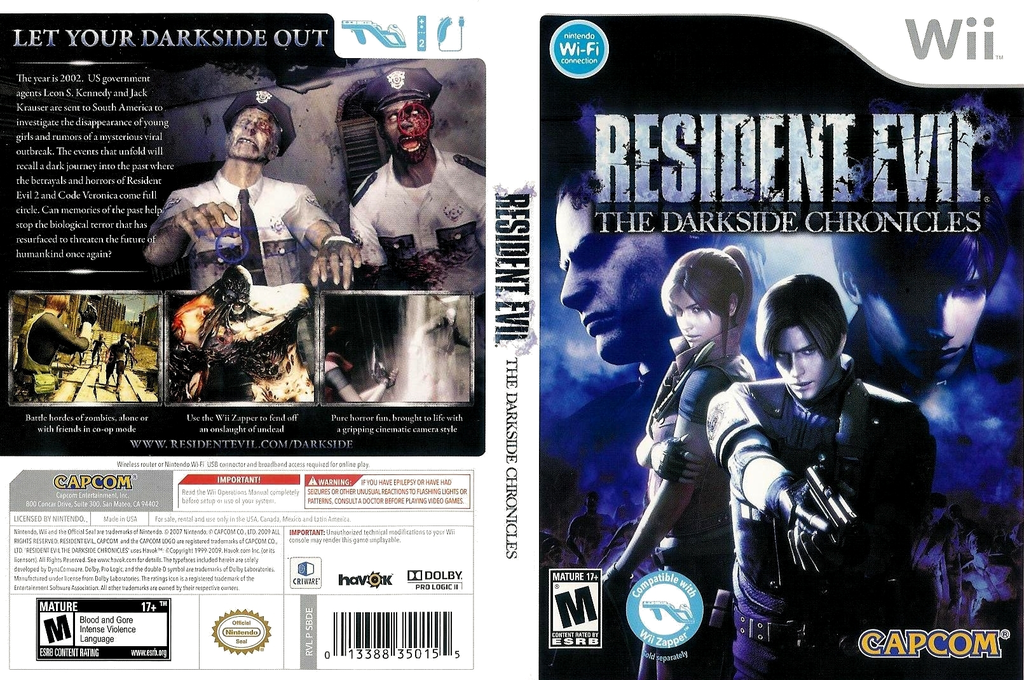 Resident Evil: The Darkside Chronicles Wii coverfullHQ (SBDE08)