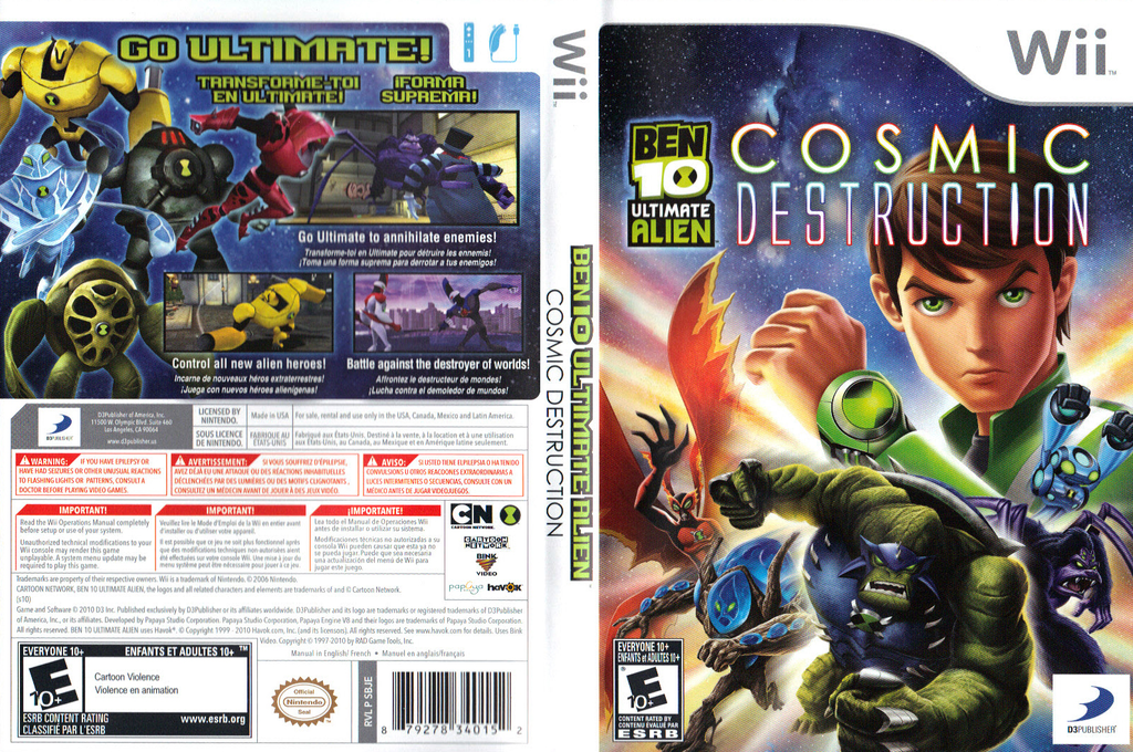 Ben 10: Ultimate Alien Cosmic Destruction Wii coverfullHQ (SBJEG9)