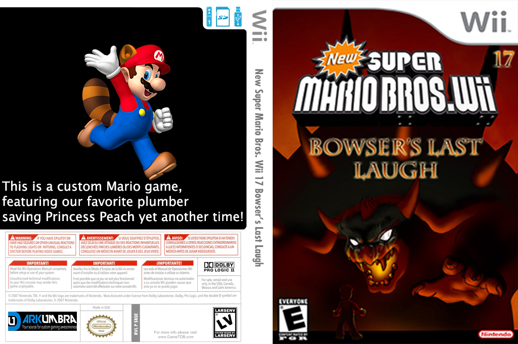 New Super Mario Bros. Wii 17 Bowser's Last Laugh Wii coverfullHQ (SBSE01)