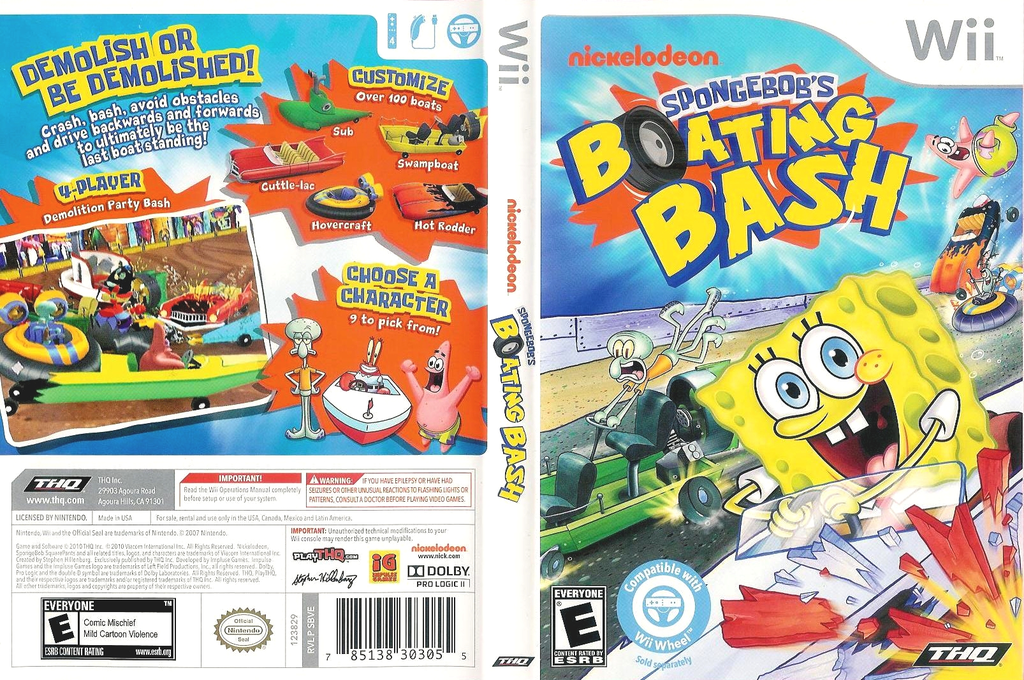 SpongeBob's Boating Bash Wii coverfullHQ (SBVE78)
