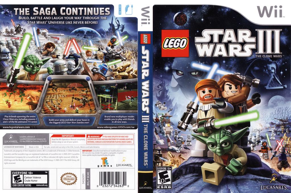 LEGO Star Wars III:The Clone Wars Wii coverfullHQ (SC4E64)