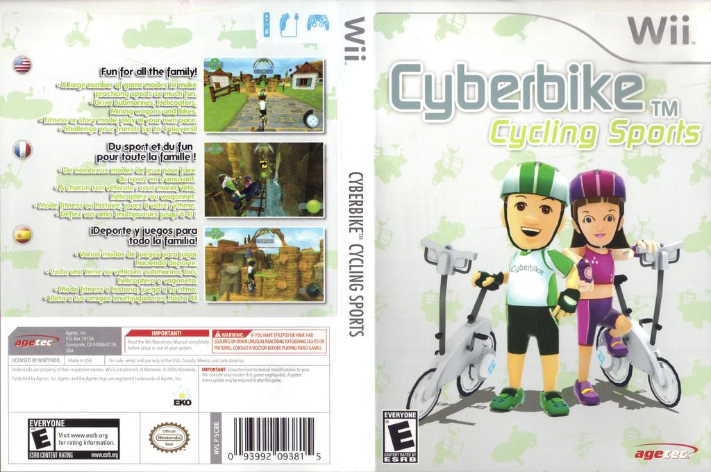 Cyberbike Cycling Sports Wii coverfullHQ (SCBE5V)