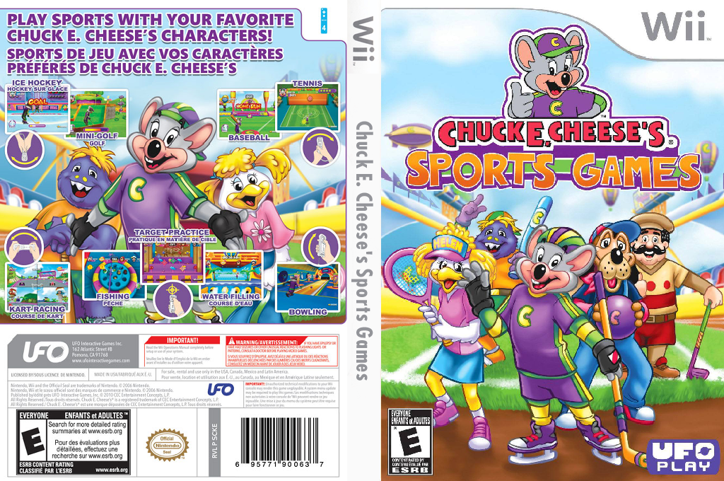 Chuck E. Cheese's Sports Games Wii coverfullHQ (SCKE6K)