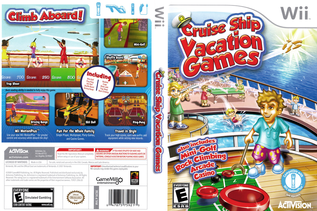 Cruise Ship Vacation Games Wii coverfullHQ (SCSE52)