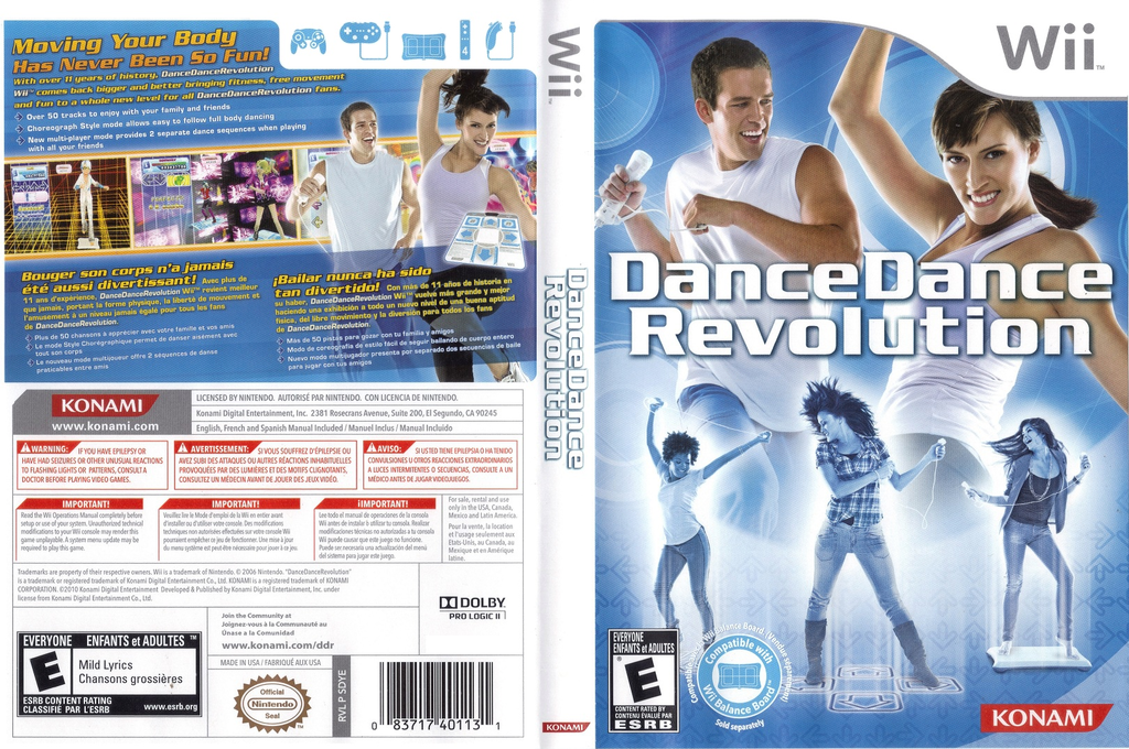 Dance Dance Revolution Wii coverfullHQ (SDYEA4)
