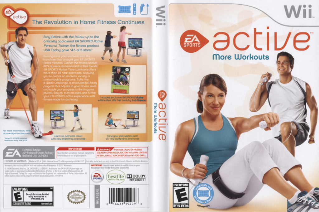 EA Sports Active: More Workouts Wii coverfullHQ (SEAE69)