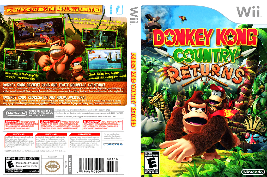 Donkey Kong Country Returns Wii coverfullHQ (SF8E01)