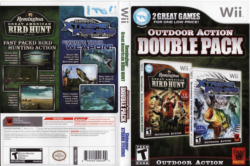 Outdoor Action Double Pack Wii coverfullHQ (SFHEFP)