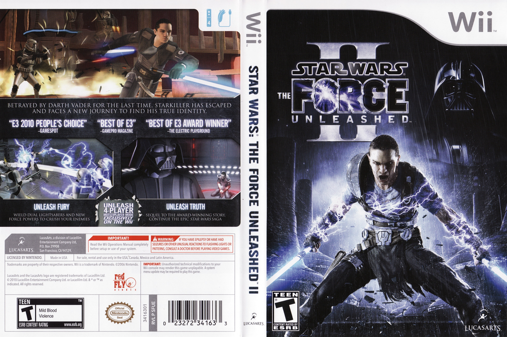 Star Wars: The Force Unleashed II Wii coverfullHQ (SFUE64)