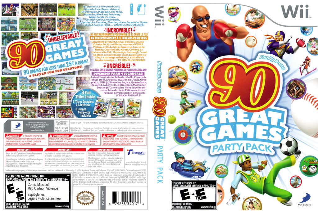 Family Party: 90 Great Games Party Pack Wii coverfullHQ (SFYEG9)