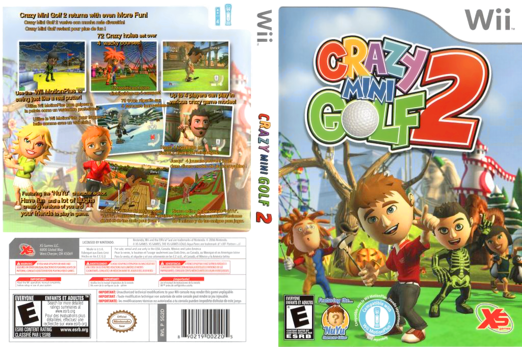 Crazy Mini Golf 2 Wii coverfullHQ (SG2EFS)