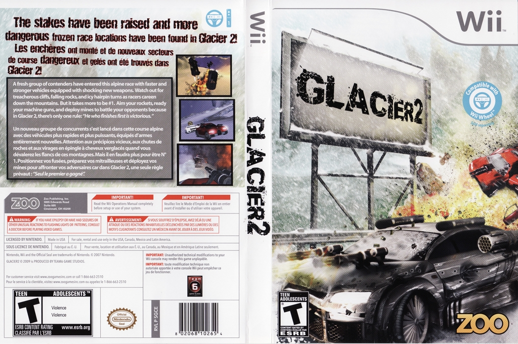 Glacier 2 Wii coverfullHQ (SGCE20)