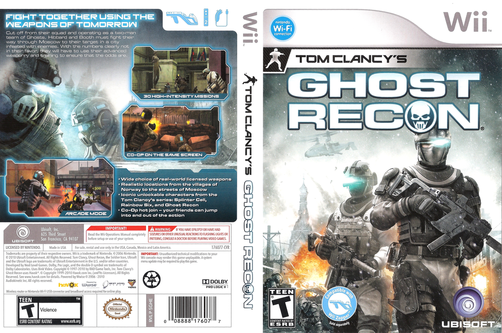 Tom Clancy's Ghost Recon Wii coverfullHQ (SGHE41)