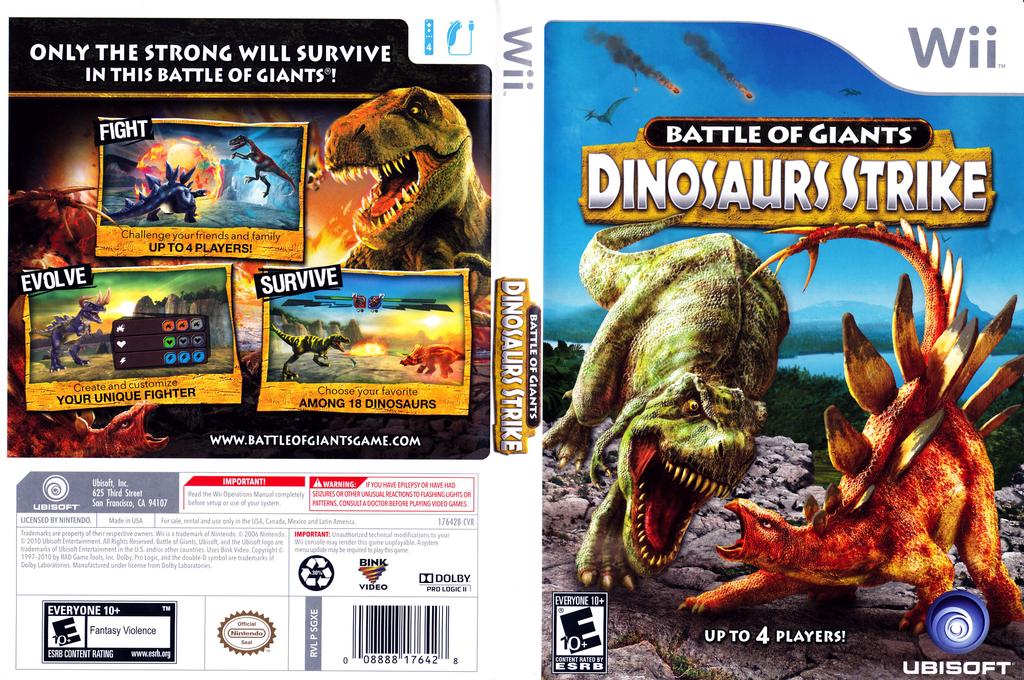 Battle of Giants: Dinosaurs Strike Wii coverfullHQ (SGXE41)