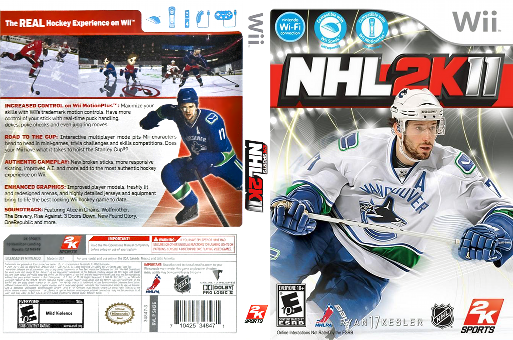 NHL 2K11 Wii coverfullHQ (SH3E54)