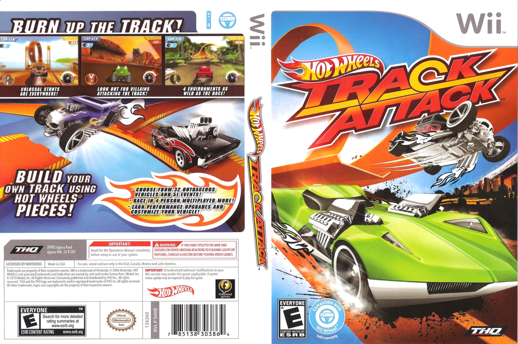 Hot Wheels: Track Attack Wii coverfullHQ (SHVE78)