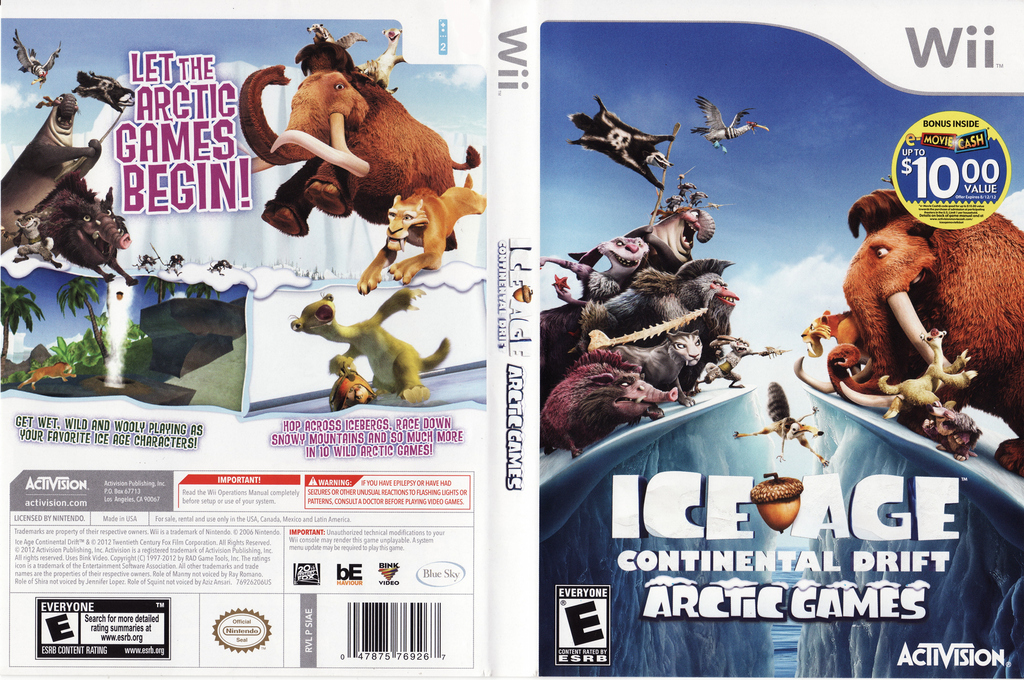 Ice Age: Continental Drift - Arctic Games Wii coverfullHQ (SIAE52)