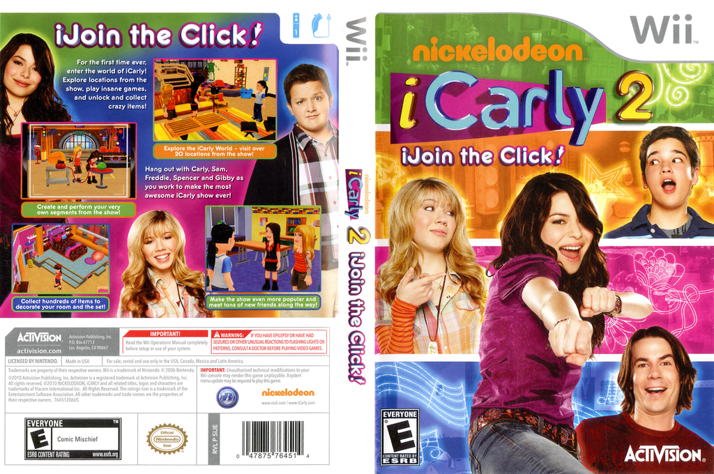 iCarly 2: iJoin the Click! Wii coverfullHQ (SIJE52)