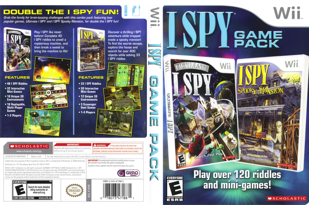 I SPY Game Pack Wii coverfullHQ (SIPE7T)