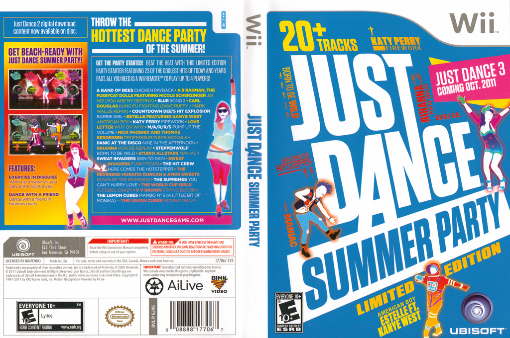 Just Dance Summer Party Wii coverfullHQ (SJ9E41)