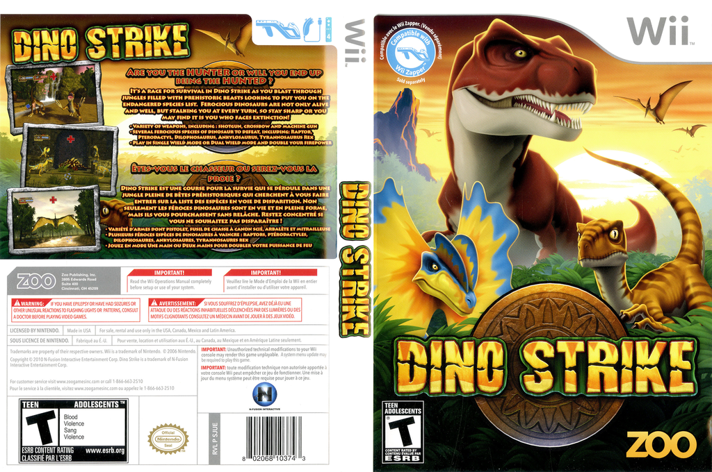 Dino Strike Wii coverfullHQ (SJUE20)