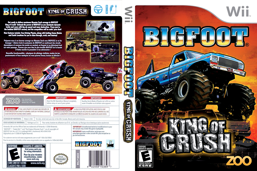 Bigfoot: King of Crush Wii coverfullHQ (SKCE20)