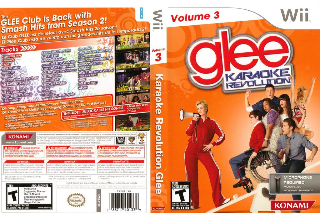 Karaoke Revolution Glee Volume 3 Wii coverfullHQ (SKOEA4)