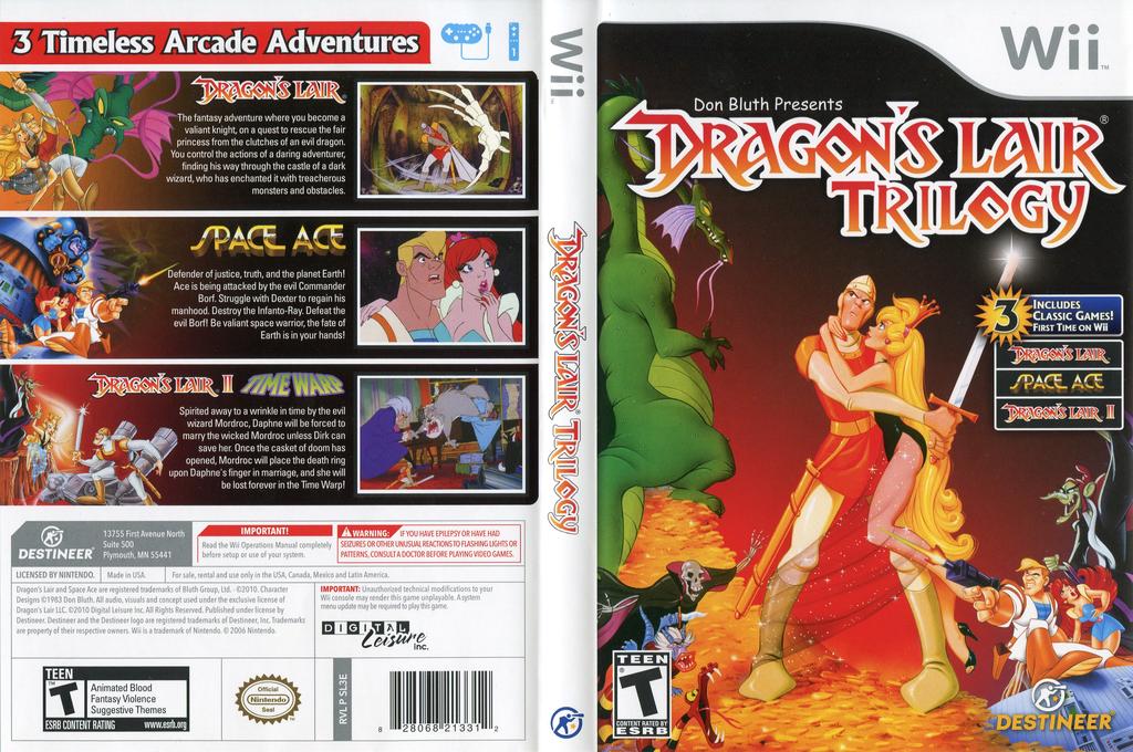Dragon's Lair Trilogy Wii coverfullHQ (SL3ENR)