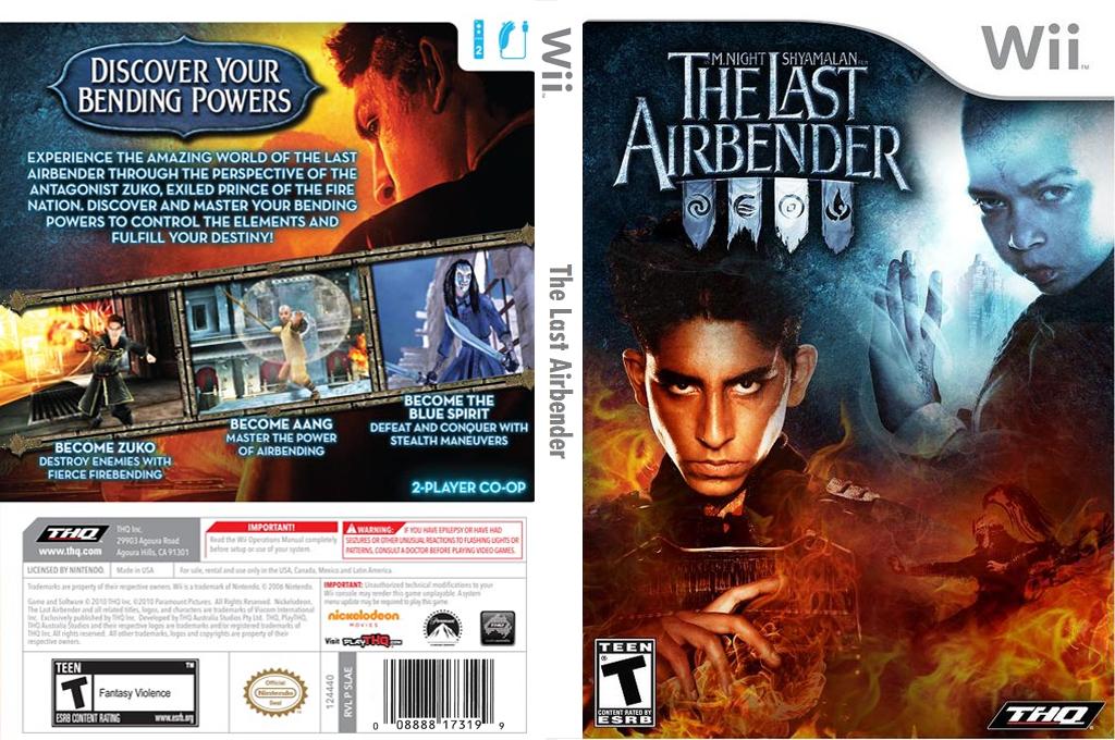 The Last Airbender Wii coverfullHQ (SLAE78)
