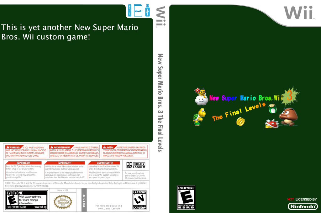 New Super Mario Bros. 3 The Final Levels Wii coverfullHQ (SLFE01)