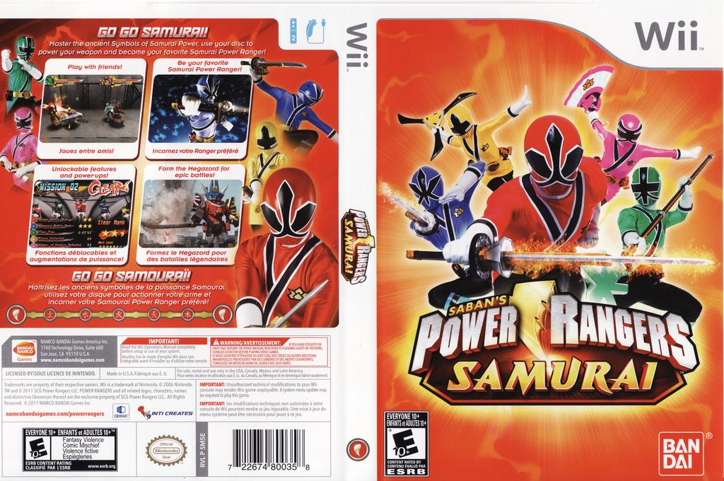 Power Rangers Samurai Wii coverfullHQ (SM5EAF)