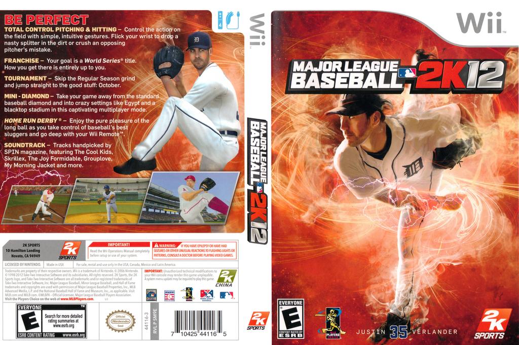Major League Baseball 2K12 Wii coverfullHQ (SM9E54)