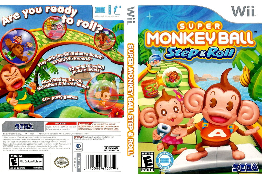 Super Monkey Ball: Step & Roll Wii coverfullHQ (SMBE8P)