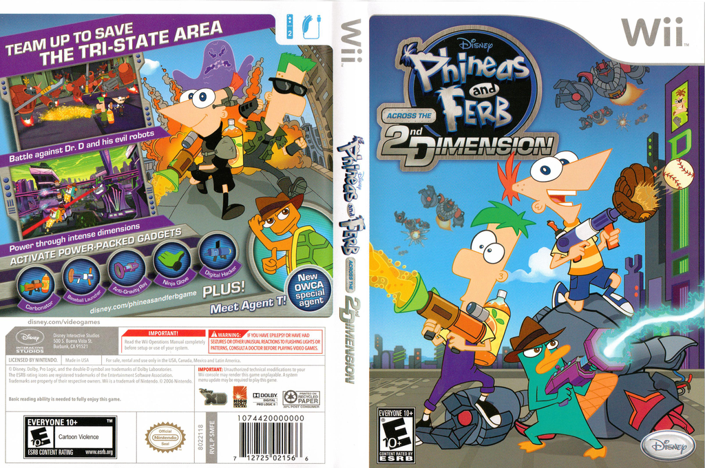 Phineas and Ferb: Across the 2nd Dimension Wii coverfullHQ (SMFE4Q)