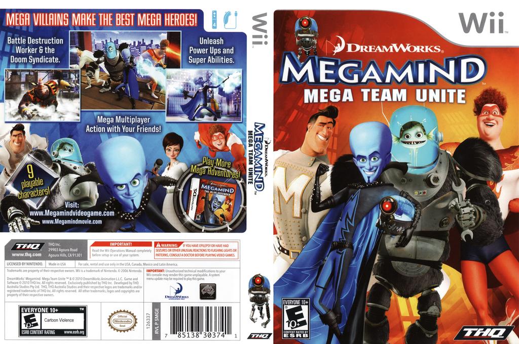 Megamind: Mega Team Unite Wii coverfullHQ (SMGE78)