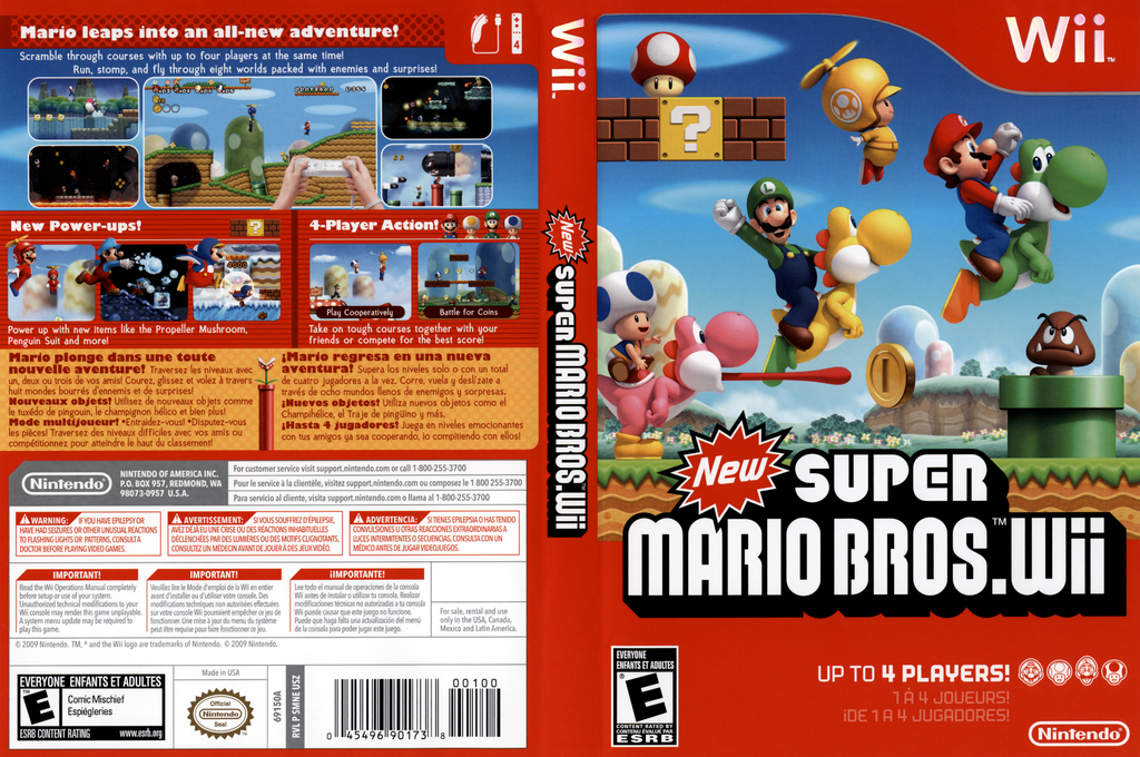 New Super Mario Bros. Wii Wii coverfullHQ (SMNE01)