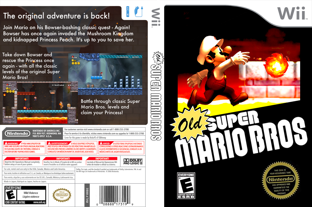 Old Super Mario Bros. Wii Wii coverfullHQ (SMNE09)