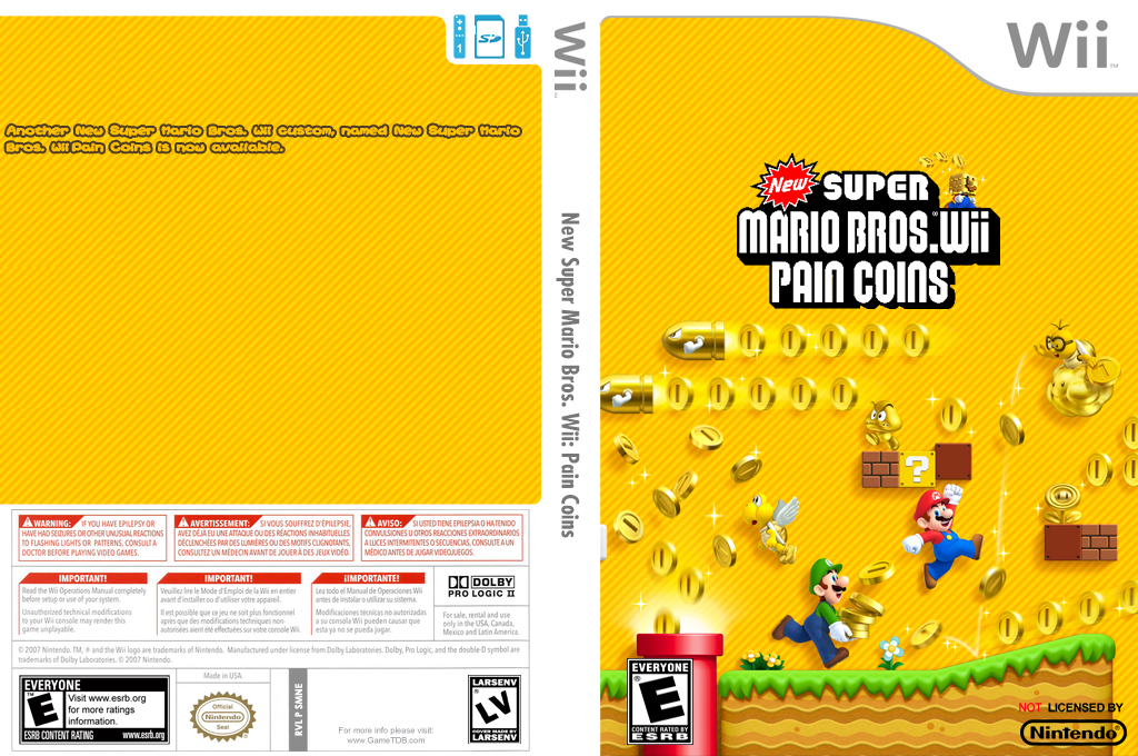 New Super Mario Bros. Wii: Pain Coins Wii coverfullHQ (SMNE14)