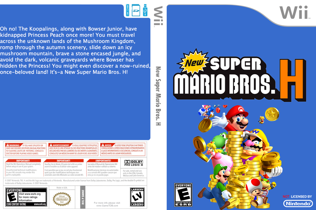 New Super Mario Bros. H Wii coverfullHQ (SMNE20)