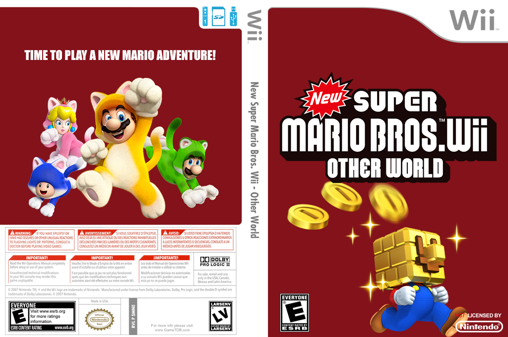 New Super Mario Bros. Wii - Other World Wii coverfullHQ (SMNE31)