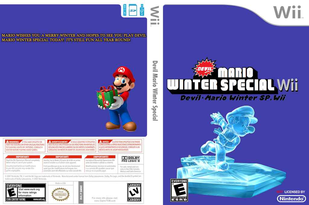 Devil Mario Winter Special Wii coverfullHQ (SMNE41)